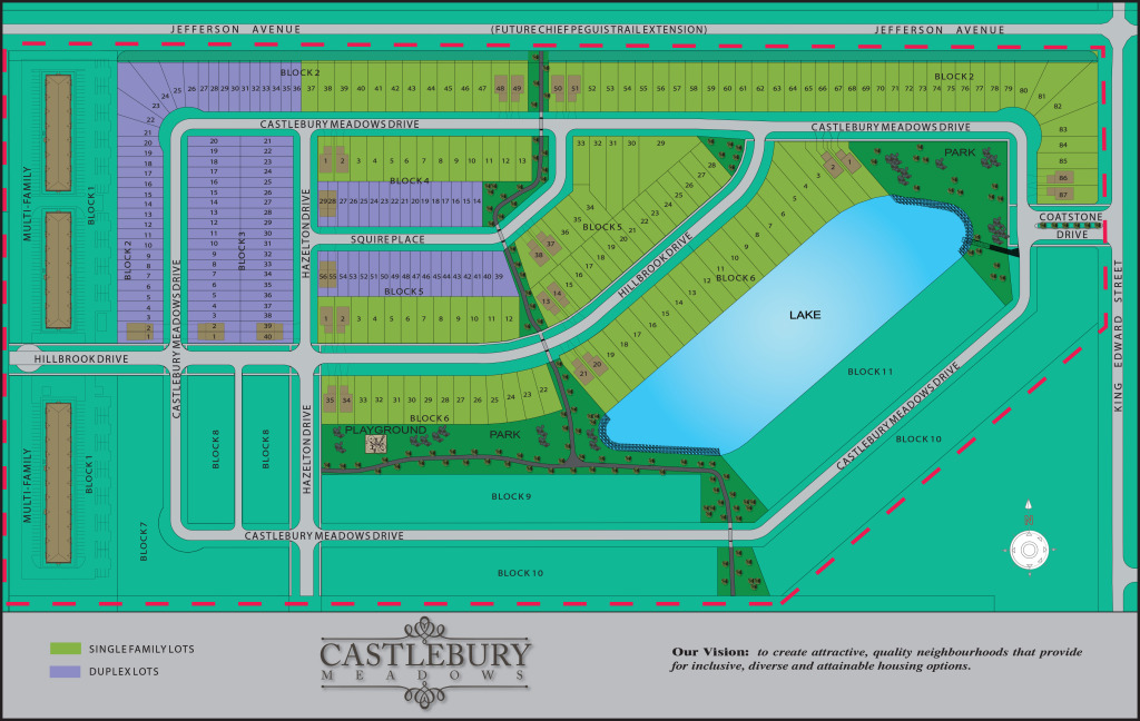 Castlebury Meadows Site Plan
