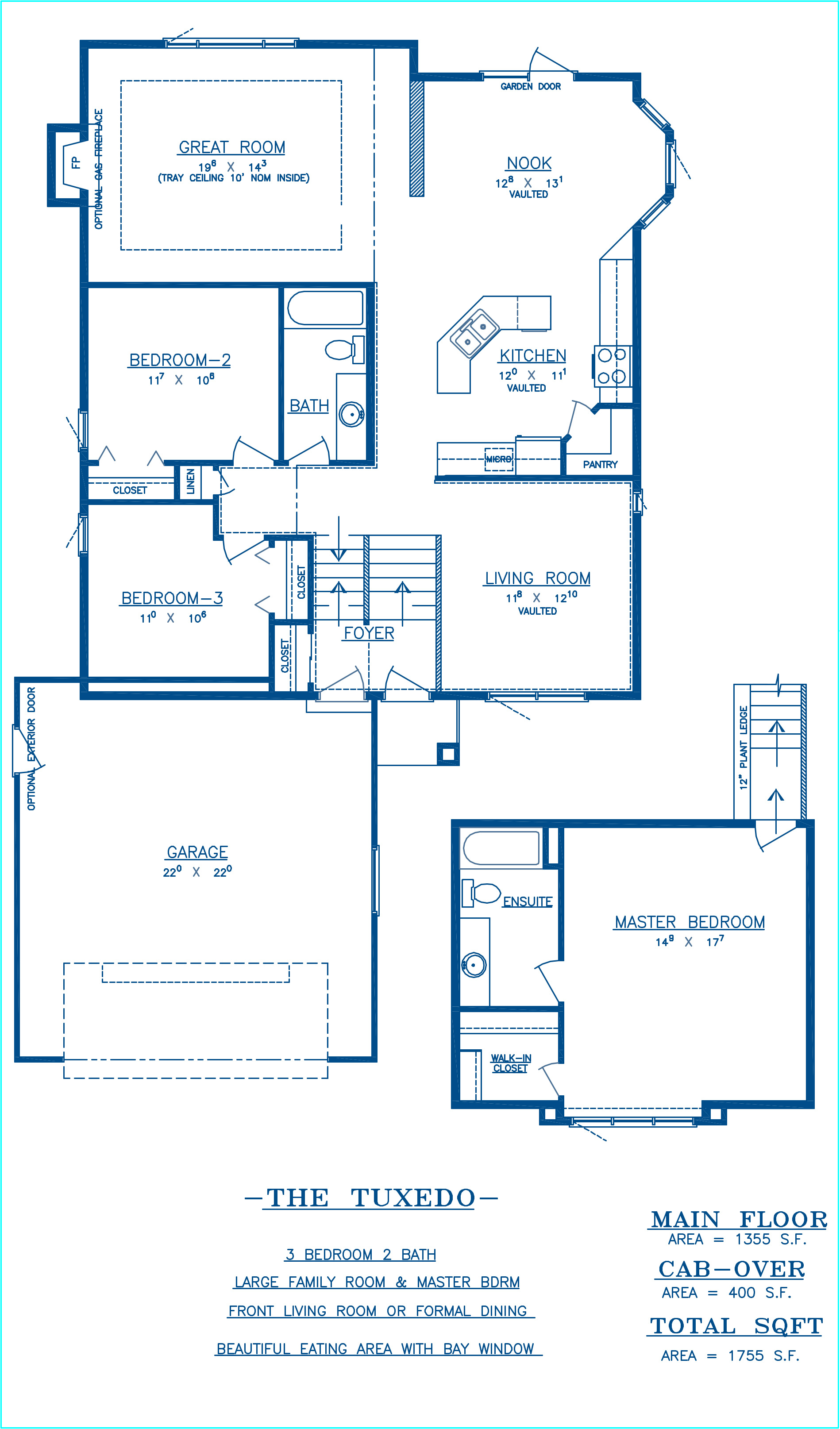 Tuxedo - Floor Plan