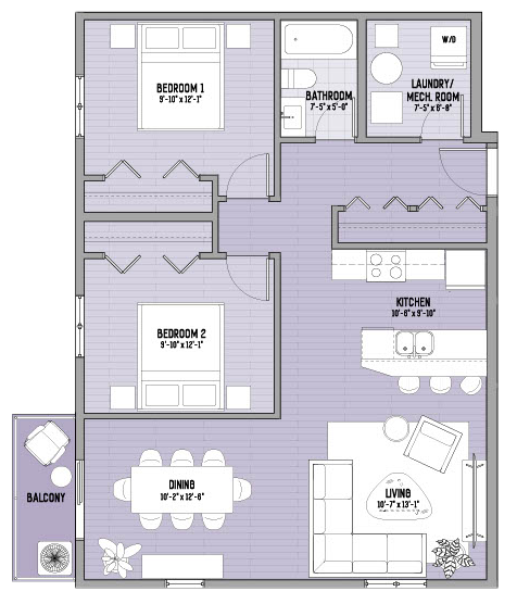 425 Main - the Lavender - floor plan