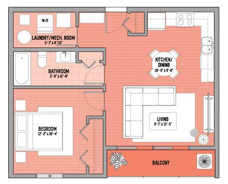 425 Main - the Rose - floor plan